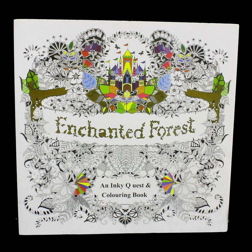 Secret Garden Enchanted Forest Colouring Book 88 Pages