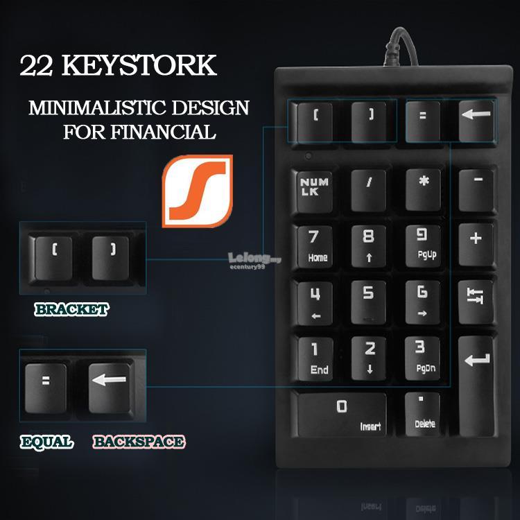 SEENDA Financial Account Mechanical USB Numeric Keypad Keyboard WG-004