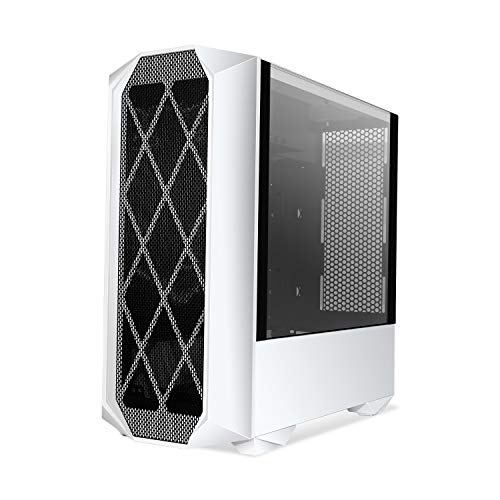 Segotep White Typhon ATX Mid Tower Computer PC Gaming Case with Graphics Card