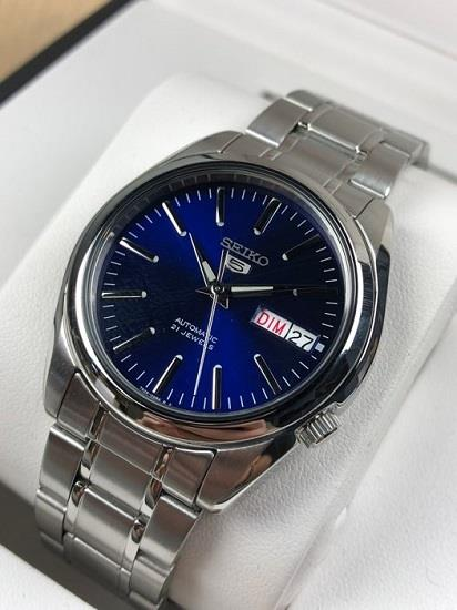 SEIKO 5 Automatic 21 Jewels Blue Dial SNKL43K1 SNKL43 Men Watch