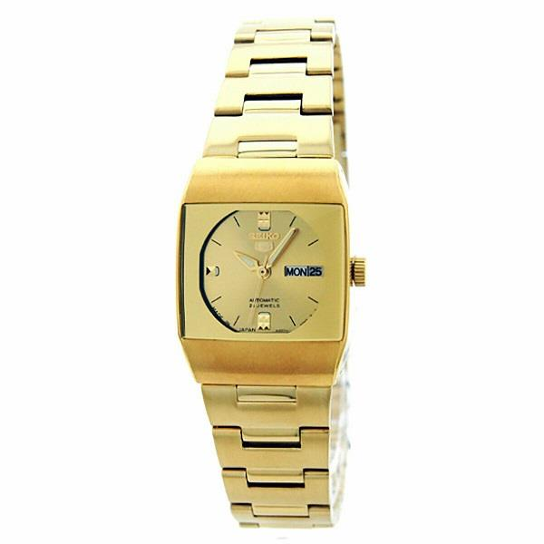 SEIKO 5 Automatic Gold Tone SYM632J1 SYM632 Women Lady Watch