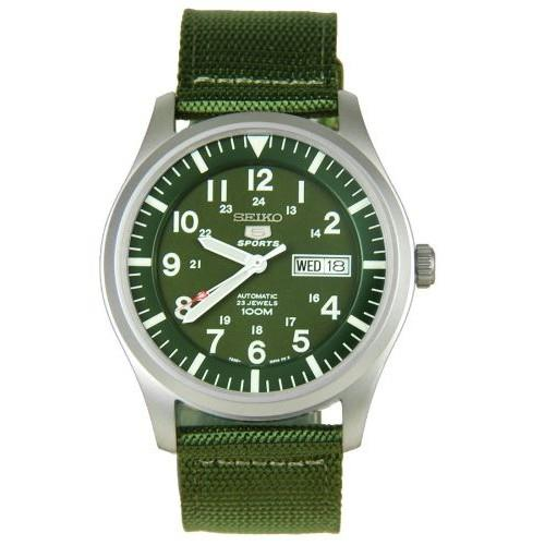 SEIKO 5 NYLON MILITARY STYLE AUTOMATIC- OLIVE GREEN