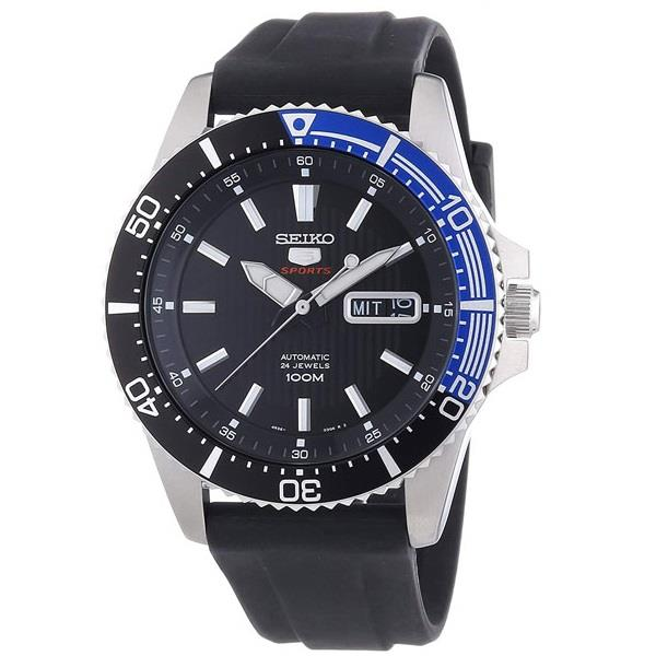 SEIKO 5 Sports Automatic Black Rubber SRP555K1 SRP555 Men Watch