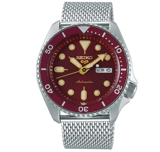 SEIKO 5 Sports Automatic Red Dial SRPD69K1 SRPD69 Men Watch