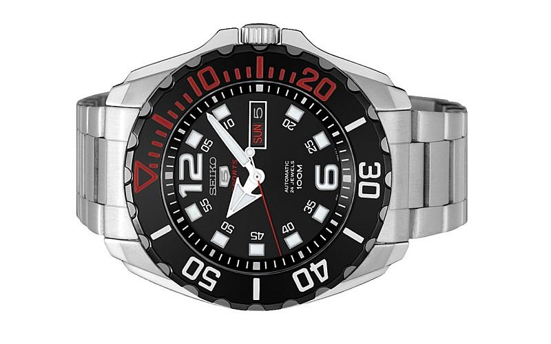 Seiko 5 Sports Men Automatic Black Dial Watch Srpb35k1