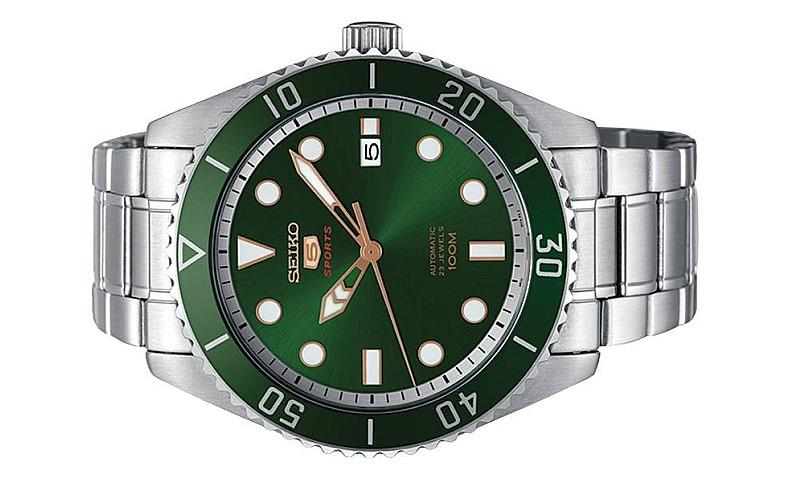 Seiko 5 Sports Men Automatic Green Dial Watch Srpb93k1