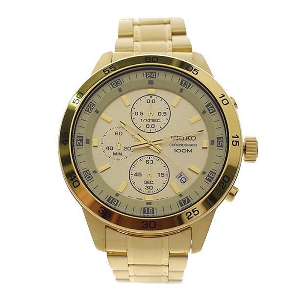 Sks646 Gold Tone Sks646p1 Chronograph Watch Analog Seiko Men Quartz 8OXnNwPZ0k