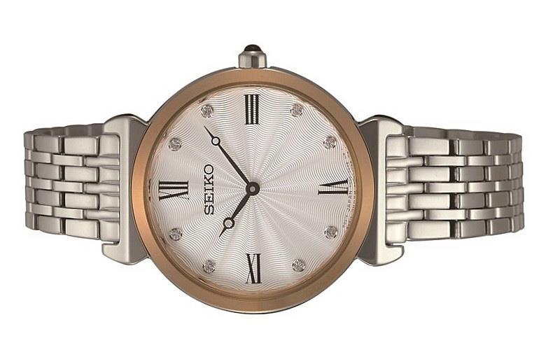 Seiko Ladies Stainless Steel Swarovski Crystal Quartz Watch SFQ798P1
