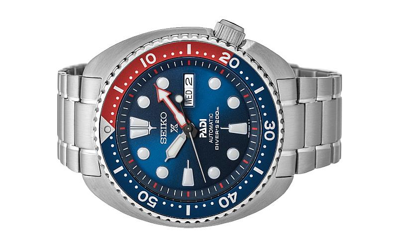 Seiko Men PROSPEX PADI Blue Dial Stainless Steel Diver Watch SRPA21K1