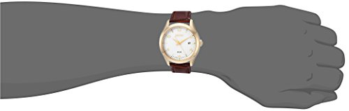 Seiko Men's Dress Stainless Steel Japanese-Quartz Watch with Leather Calfskin