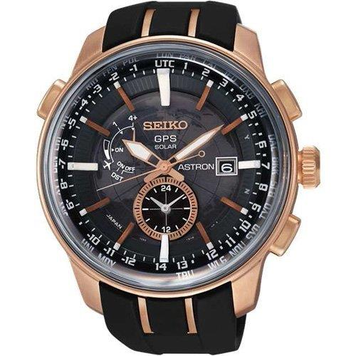 SEIKO . SAS032J1 . ASTRON . M . World Time . RSB . GPS Solar . Black