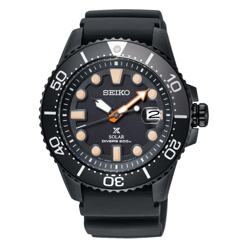 SEIKO . SNE493P1 . Prospex . M . The Black Series 2018 Diver Solar LE