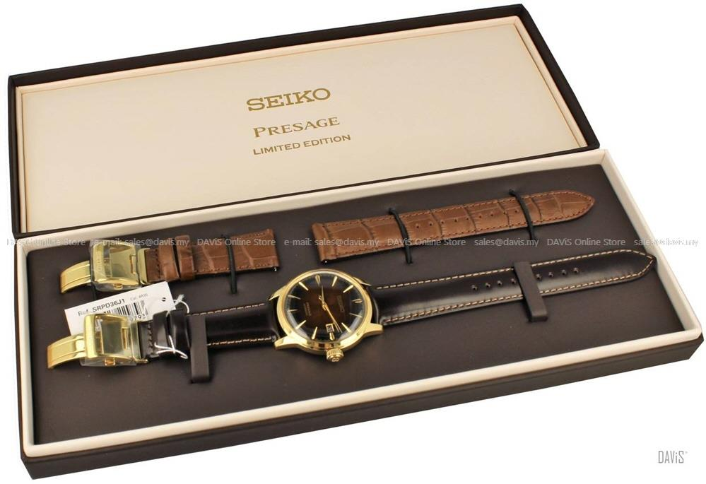 SEIKO SRPD36J1 Men's PRESAGE Cocktail Old Fashioned Automatic Amber LE