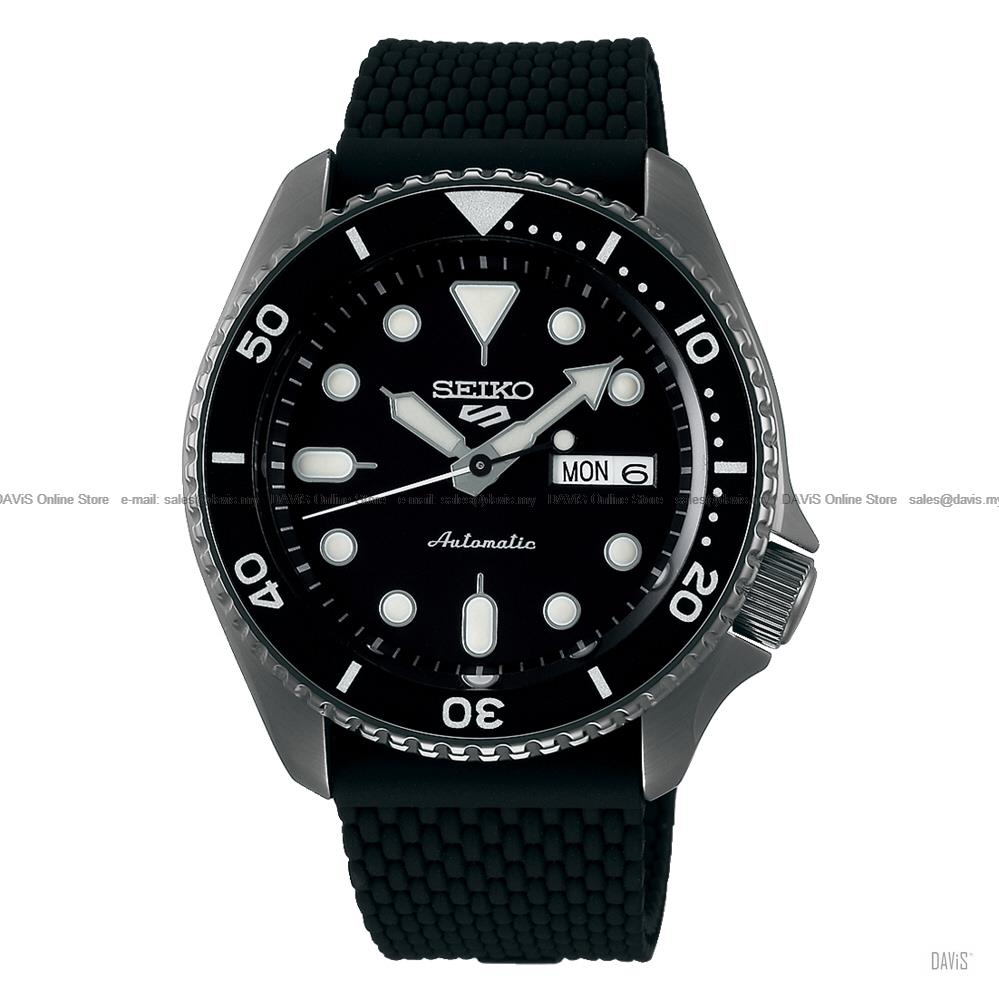 SEIKO SRPD65K2 Men's SEIKO 5 Sports Suits Automatic Silicone Black