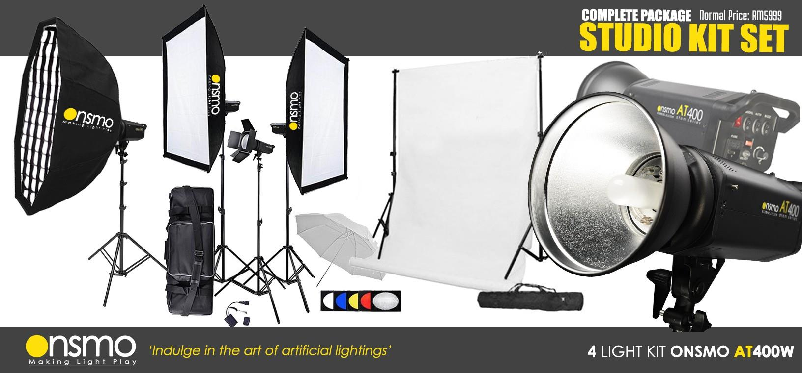 am studio lighting. Semi Pro Studio Setup Package (Onsmo AT400W X 4 Lights Kit) Am Lighting I