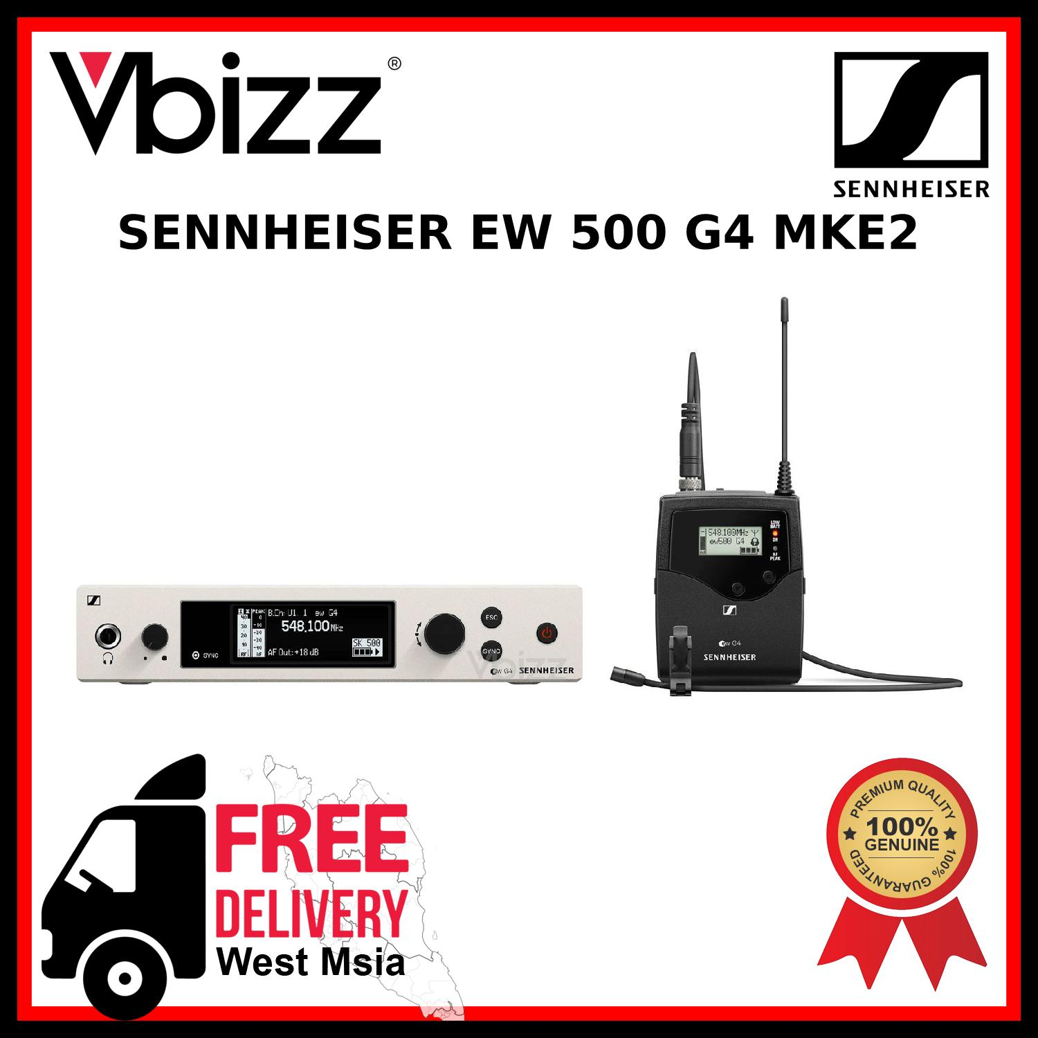 Sennheiser EW500 G4 MKE2 *FREE DELIVERY* Wireless Microphone System