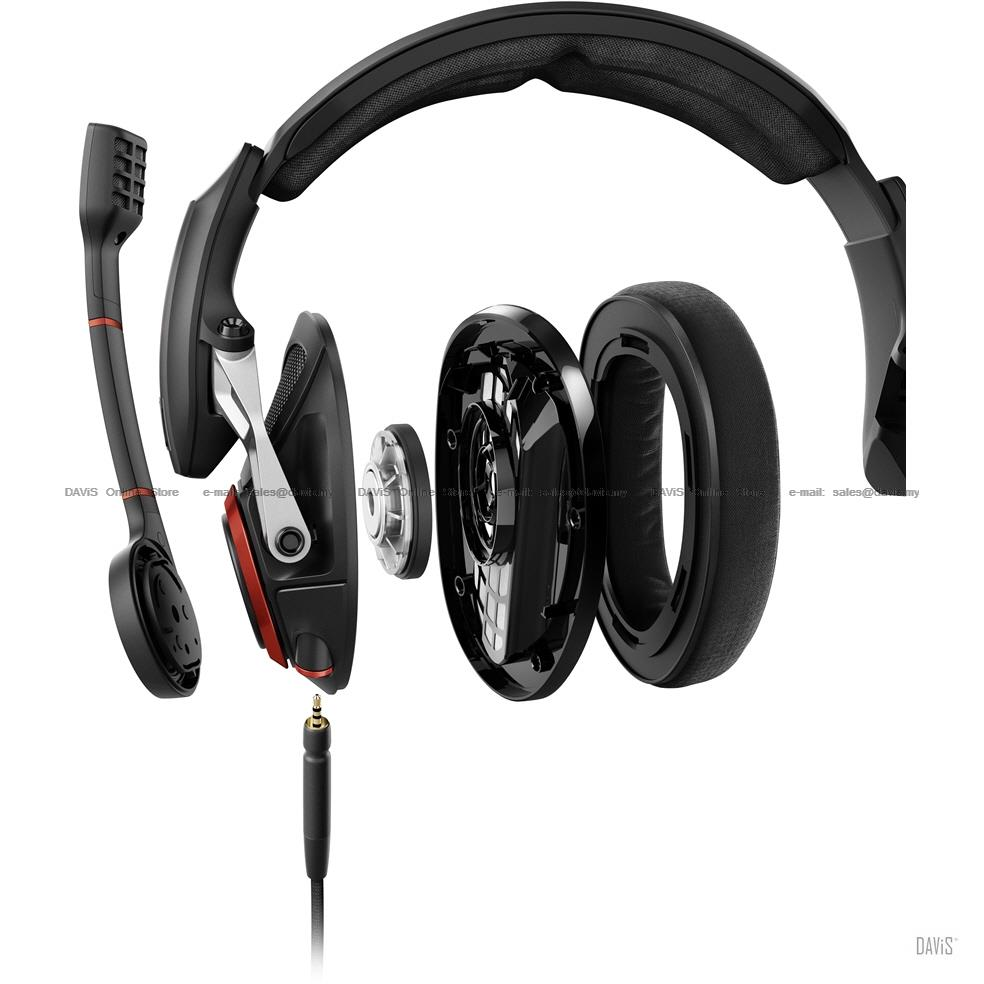 Sennheiser GSP 500 Gaming Headsets Open Acoustic Customized Fit