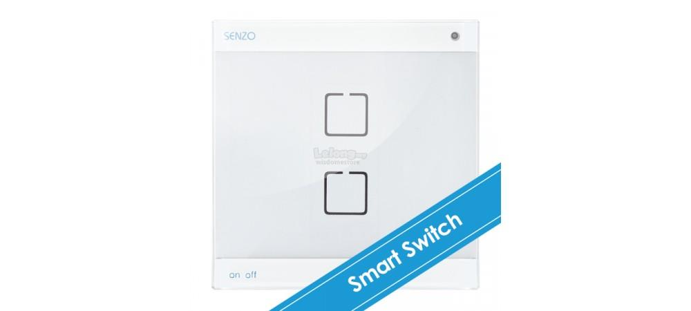 SENZO Touch with 2 On/Off Switch (white/silver) chargeable