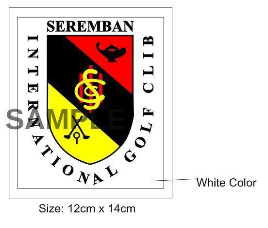 Seremban International Golf Club Windscreen Sticker (SIGC)