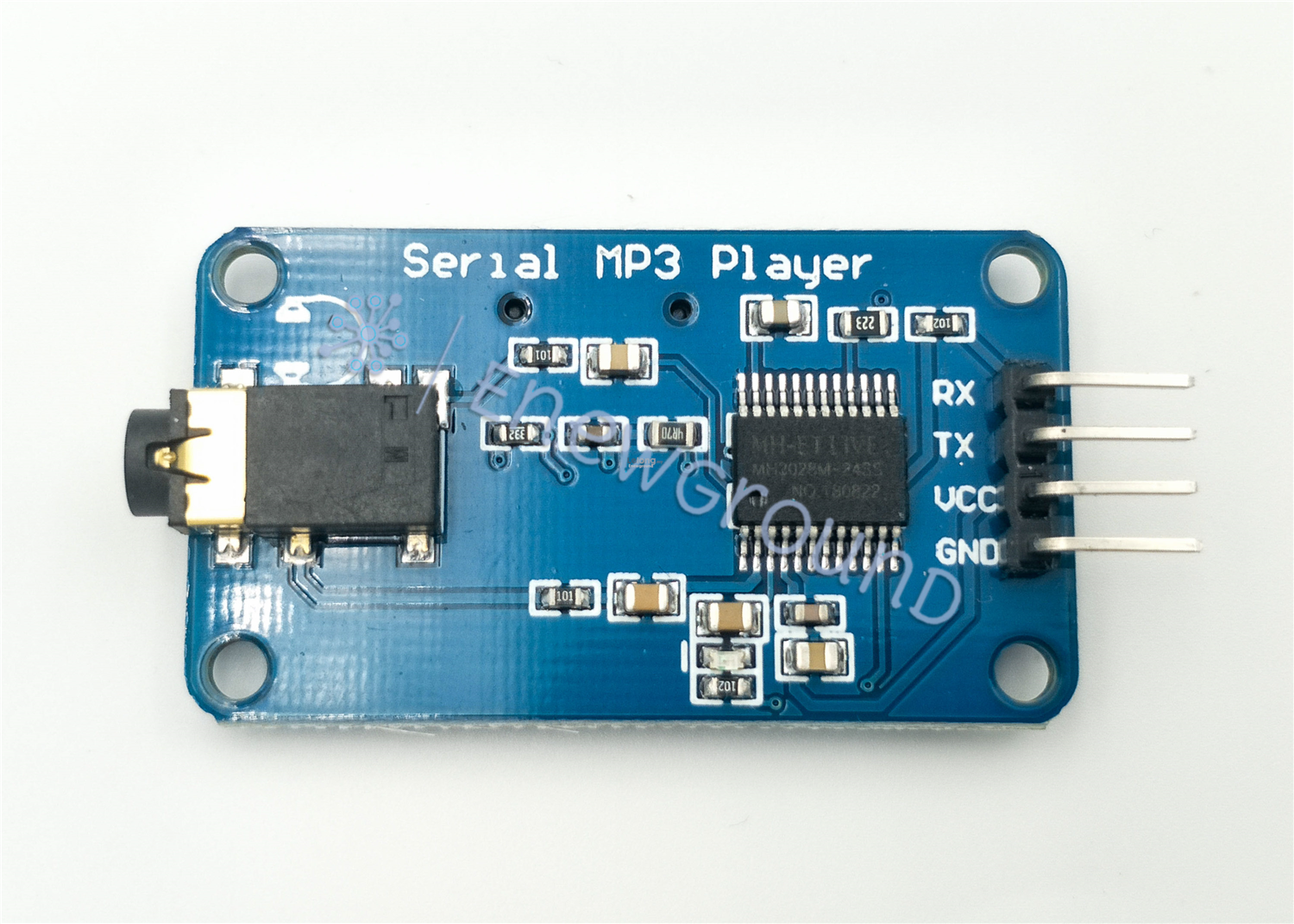 Serial MP3 player with microSD slot (UART serial, Micro SDHC, YX6300)