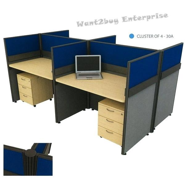 Vs Series Cer Of 4 Officer Working Table Parion Workstation 30a