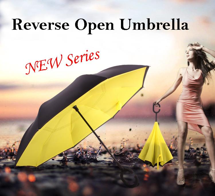 New series Creative reverse open inverted umbrella in Packing Box