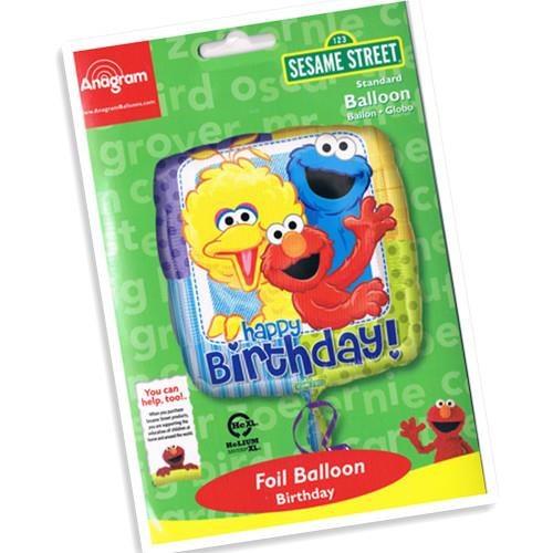 Sesame Street Happy Birthday 17-inches Foil Balloon 17852 Square