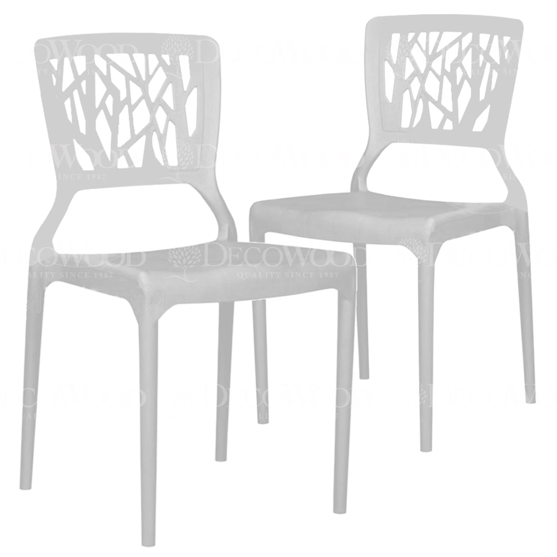 Set Of 2 High Quality Stackable Plastic Chair Dining Chair Outdoor