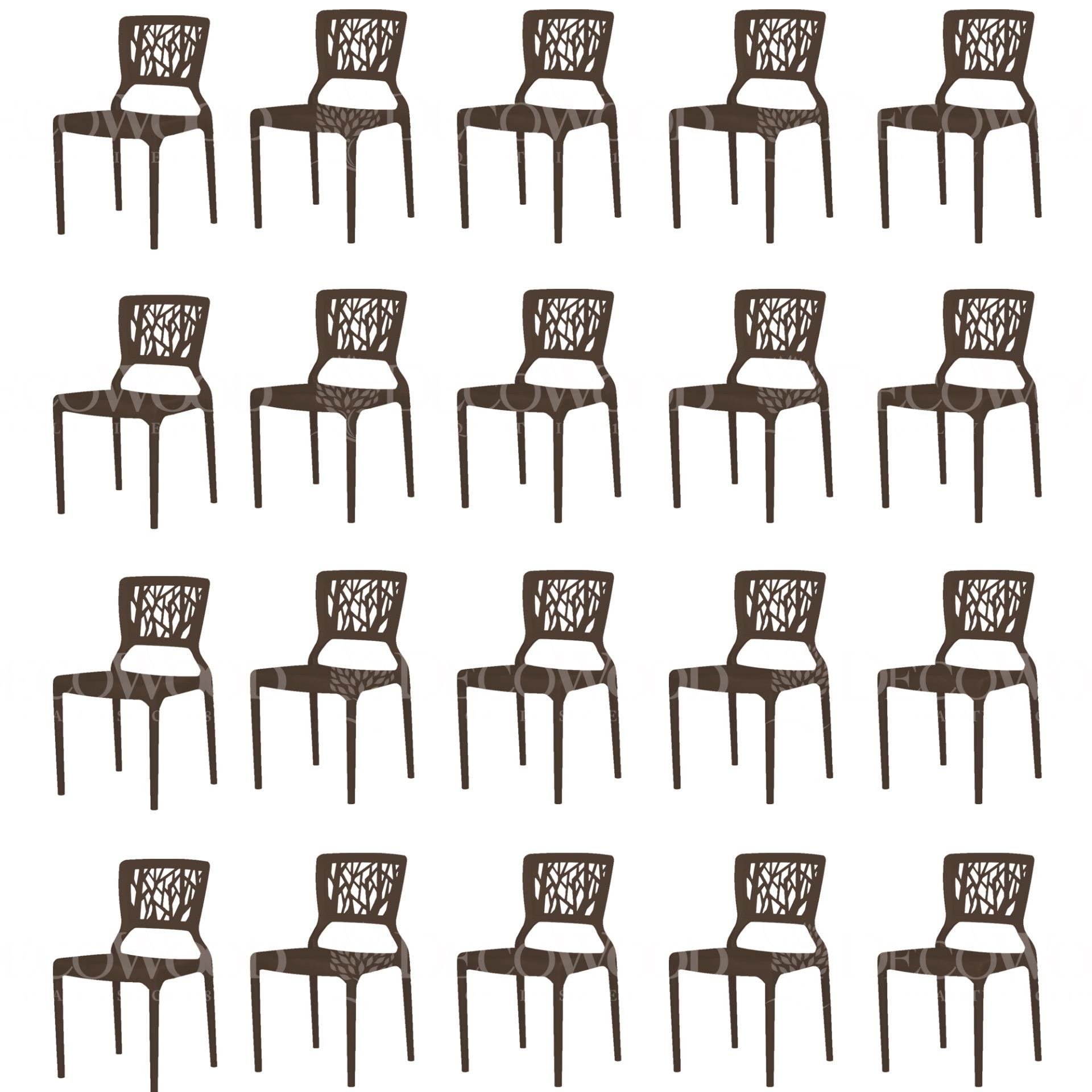 Set Of 20 High Quality Stackable Dining Chair Plastic Chair Outdoor