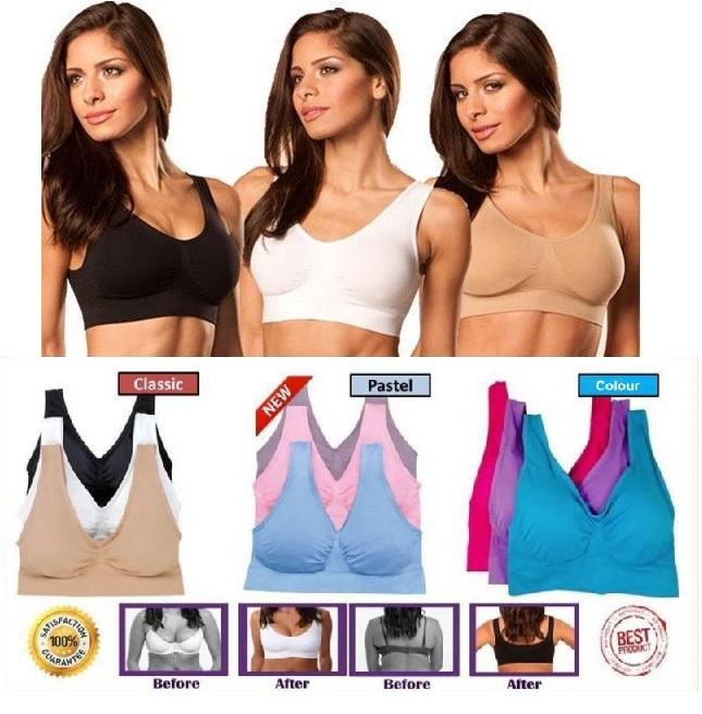 Set of 3 Original Genie Bra With Pads