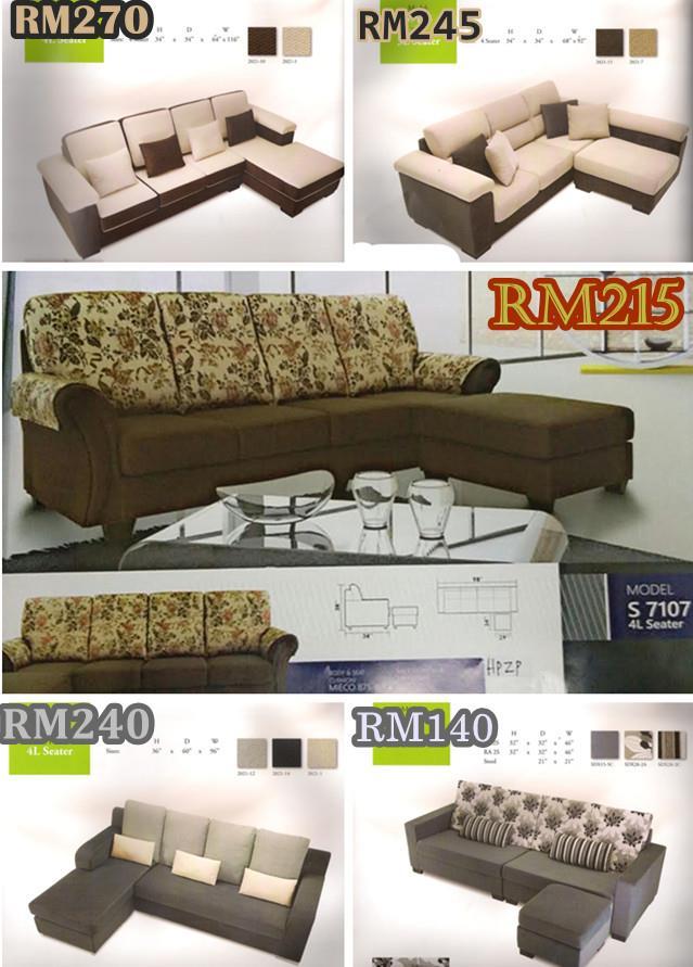 Set Ruang Tamu L Shape Sofa Bayaran Ansuran Bulana Murah Dan Mewah