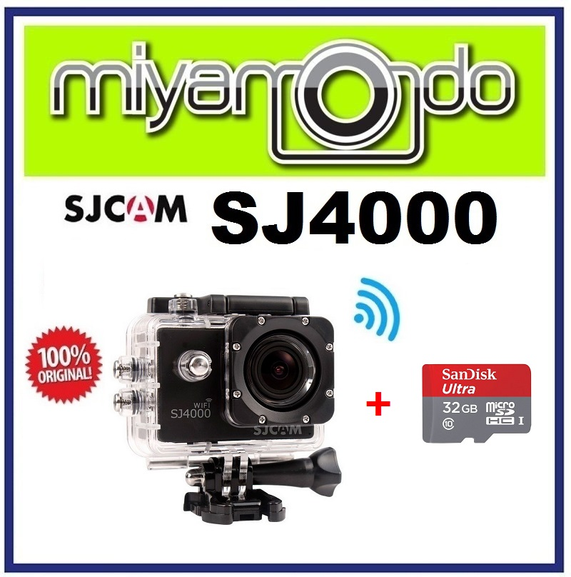 [VALUE SET] SJCAM Original SJ4000 WiFi Action Camera (Black) + 32GB