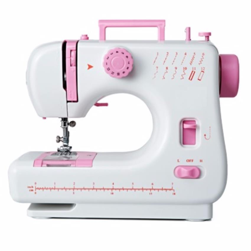Sewing Machine JYSM-605 (Upgraded 505) with 12 Sewing Options (Pink)