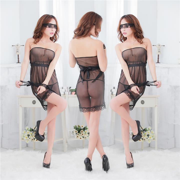 Sexy Black Lingerie with eye mask   (end 8 20 2019 2 51 PM) 767cef6a3f