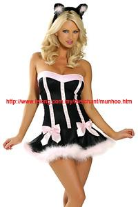 Sexy Cat Girl Lingerie Halloween Cosplay Costume YH1028