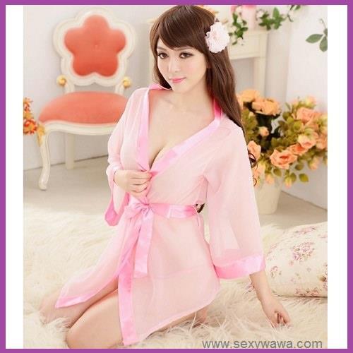 901c69745 Sexy Kimono Lingerie Lace Pyjamas Night Sleepwear Robes + Underwear. ‹ ›
