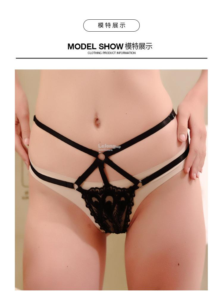 Sexy lace maid panties erotic harness fashion garter thong