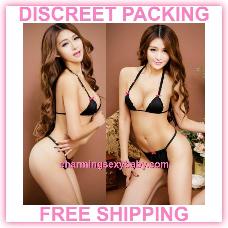 dd8e2bf81f3 Sexy Lingerie Black Bikini Bra + G- (end 8 24 2019 12 39 PM)