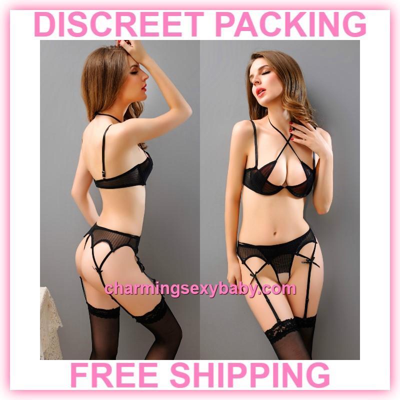 eedd917d5 Sexy Lingerie Black Bikini Set Bra (end 6 27 2020 12 59 PM)