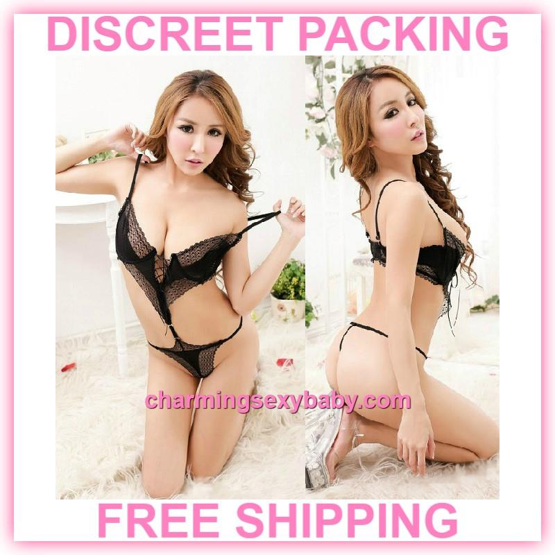 0aef1d7c9dd Sexy Lingerie Black Wire Bra Thong T (end 6 13 2019 1 40 AM)