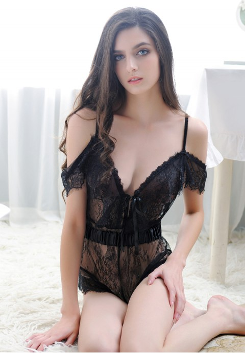 Sexy Lingerie Dentelle Robe Transpa (end 3 25 2019 10 28 PM) 19462a458f5
