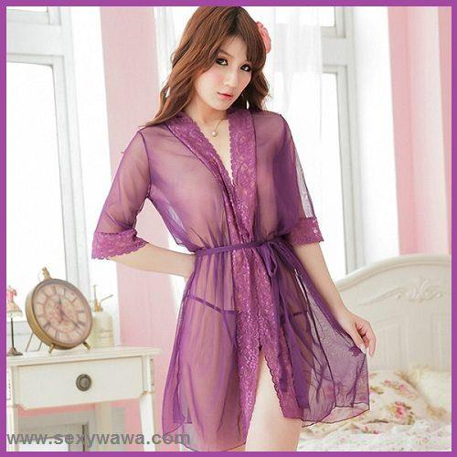 Sexy Lingerie Lace Pajamas   Pyjamas Night Sleepwear Robes + Underwear. ‹ › 1025e5a20