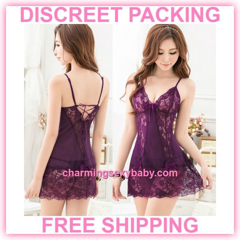 57f81bdcbb44 Sexy Lingerie Purple Lace Sling Bab (end 1 25 2020 12 19 AM)