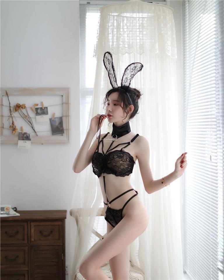 de3d5ae4d5e Sexy lingerie sexy perspective jumpsuit lace bunny uniform