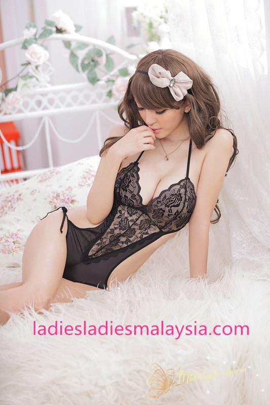 sexy lingerie sleepwear nightwear black lace teddy