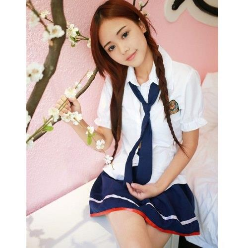 Sexy Lingerie Student School Uniform Cosplay Costume Nightwear