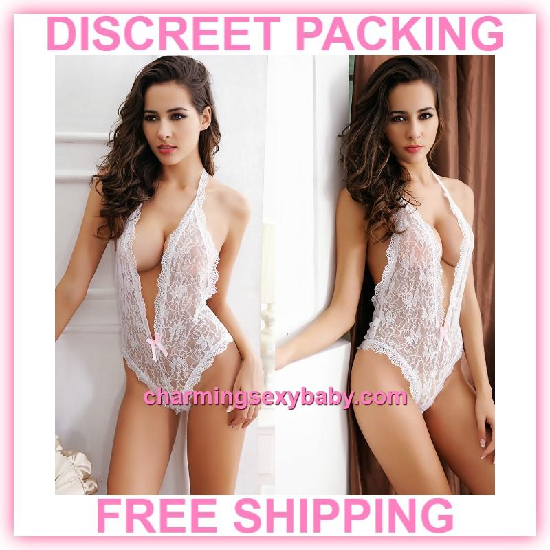 359fc2f4744 Sexy Lingerie White Lace Deep V Ope (end 11/3/2019 11:59 AM)