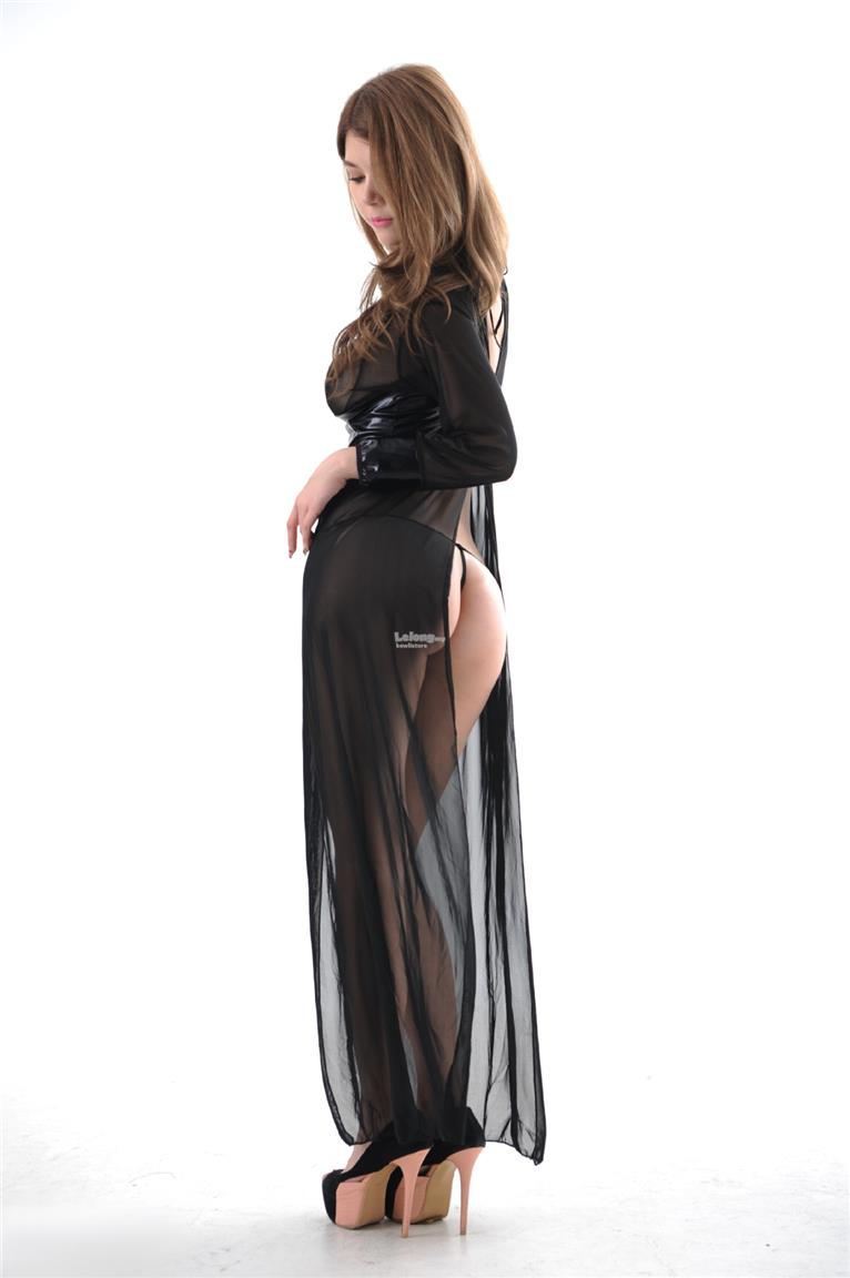 Sexy long skirt ladies wrapped chest split hip skirt