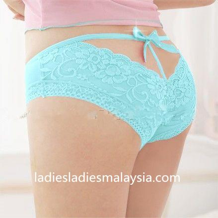 Sexy Panty colourful ribbon lace flower