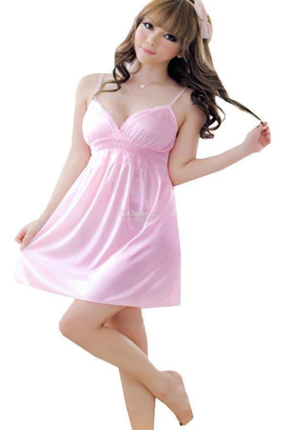 8654435759 Sexy Women Pink Nightdress Babydoll (end 8 20 2019 3 27 PM)